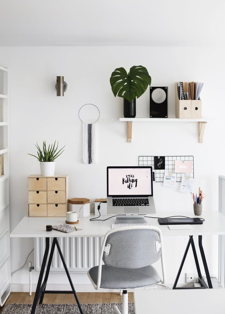 Natural light in a small office space