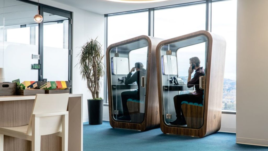 Phone booths are back, into the office.
